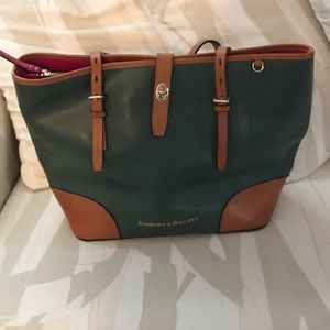 Authentic Dooney and Bourke large leather tote